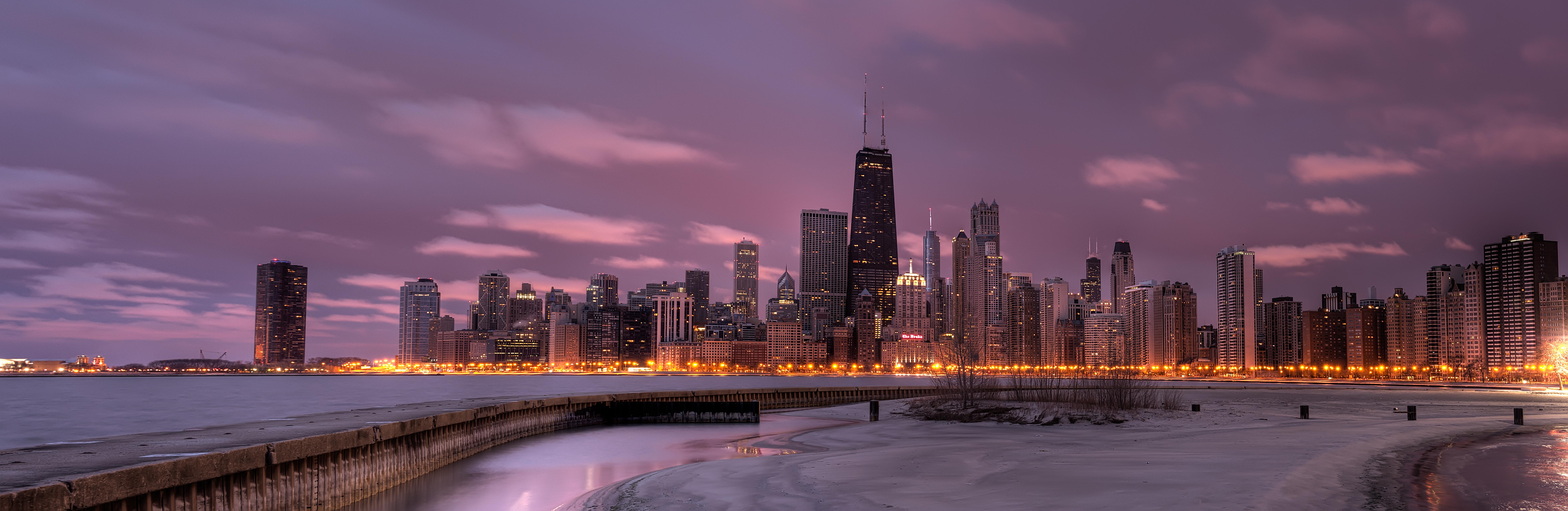 Chicago_Skyline_at_Sunrise_Dave_Wilson
